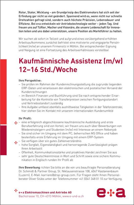 Kaufmännische Assistenz (m/w) bei e+a Elektromaschinen und Antriebe AG gesucht