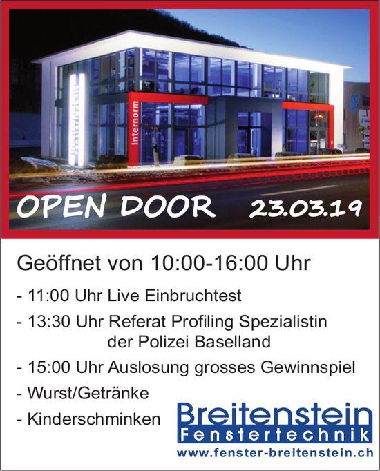 OPEN DOOR, 23. März, Breitenstein Fenstertechnik
