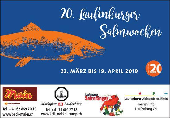 20. Laufenburger Salmwochen, 23. März bis 19. April