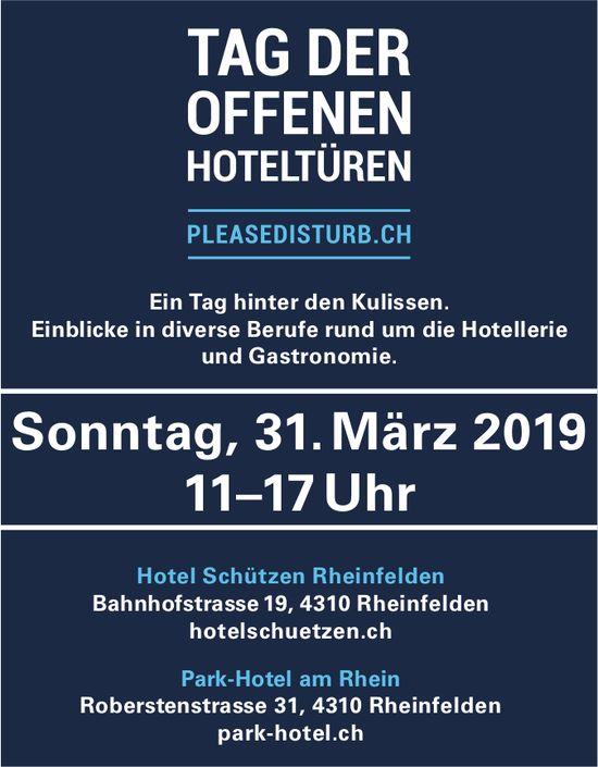 Hotel Schützen Rheinfelden/ Park-Hotel am Rhein - Tag der offenen Türen Hoteltüren am 31. März