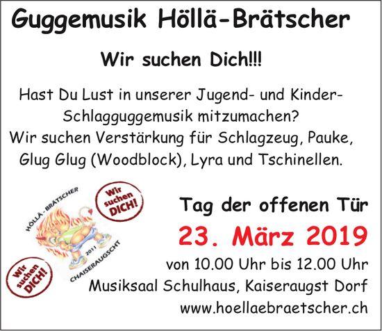 Guggemusik HöIIä-Brä'rscher - Tag der offenen Tür am 23. März