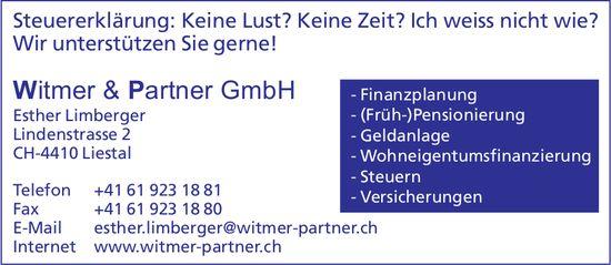 Witmer & Partner GmbH - Steuererklärung: Wir unterstützen Sie gerne!