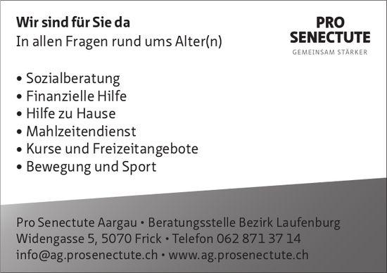 Pro Senectute Aargau - Wir sind für Sie da. In allen Fragen rund ums Alter(n)