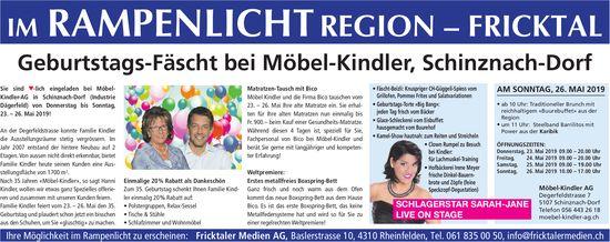 IM RAMPEN LICHT - Geburtstags-Fäscht bei Möbel-Kindler, Schinznach-Dorf, 26. Mai