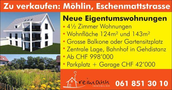 Neue 4.5 Zimmer-Eigentumswohnungen in Möhlin zu verkaufen