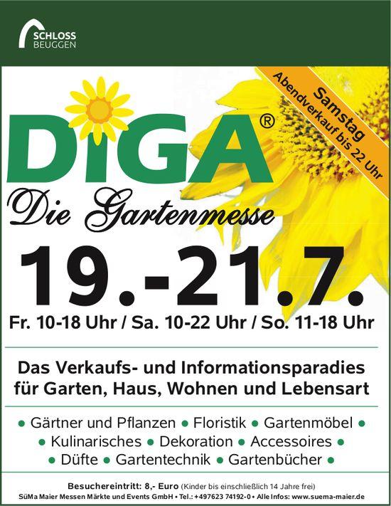 DIGA, die Gartenmesse, 19.-21. Juli - Das Paradies für Garten, Haus, Wohnen und Lebensart