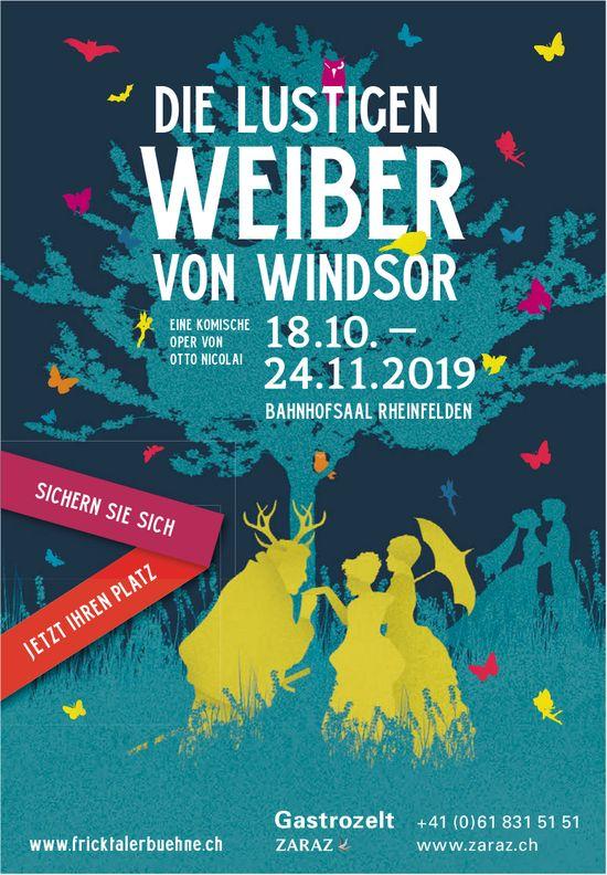DIE LUSTIGEN WEIBER VON WINDSOR, EINE KOMISCHE OPER VON OTTO NICOLAI, 28.10.-24.11.2019