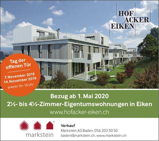 2.5- bis 4.5-Zimmer-Eigentumswohnungen, Eiken, zu verkaufen - Tag der offenen Tür, 7. & 14. November