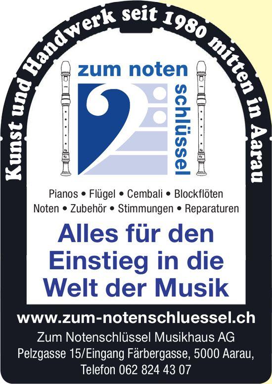 Zum Notenschlüssel Musikhaus AG - Alles für den Einstieg in die Welt der Musik