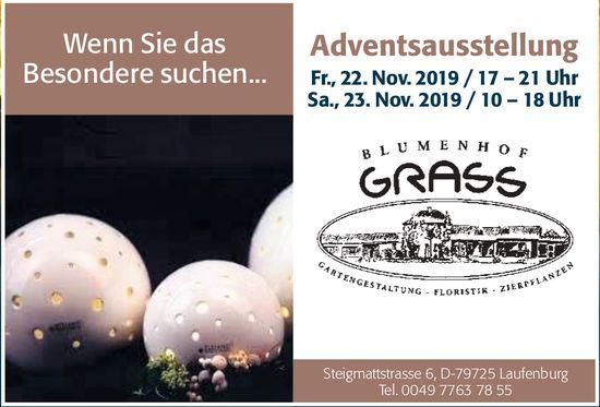 Blumenhof Grass - Adventsausstellung, 22. + 23. November