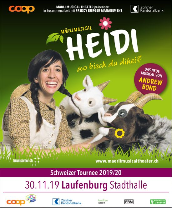 "MÄRLI MUSICAL THEATER ""HEIDI"" am 30. November in Laufenburg"