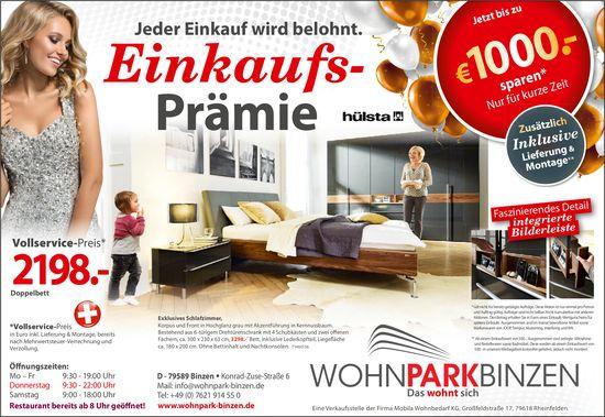 Einkaufsprämie - Wohnpark Binzen, Rheinfelden