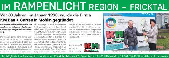Vor 30 Jahren, im Januar 1990, wurde die Firma KM Bau + Garten in Möhlin gegründet