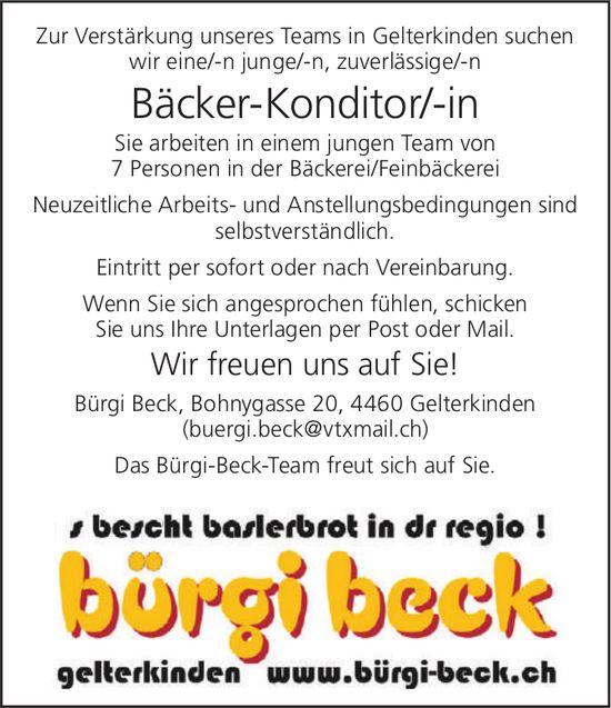 Bäcker-Konditor/-in bei Bürgi Beck gesucht