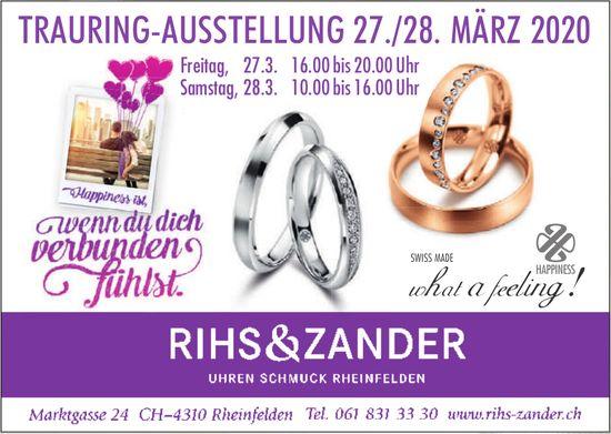 TRAURING-AUSSTELLUNG 27./28. MÄRZ 2020, RIHS & ZANDER