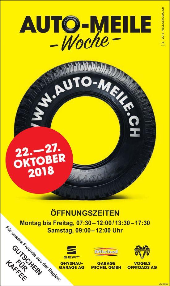 Auto-Meile Woche, 22. - 27. Oktober