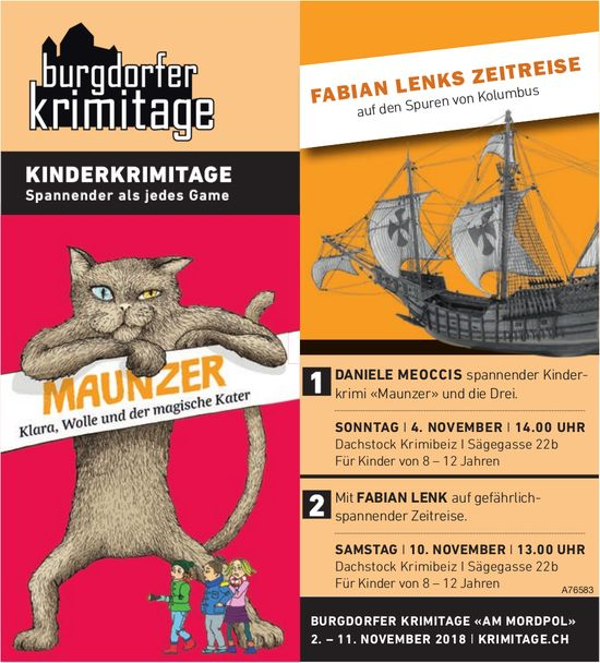 BURGDORFER KRIMITAGE «AM MORDPOL», 2. - 11. NOVEMBER