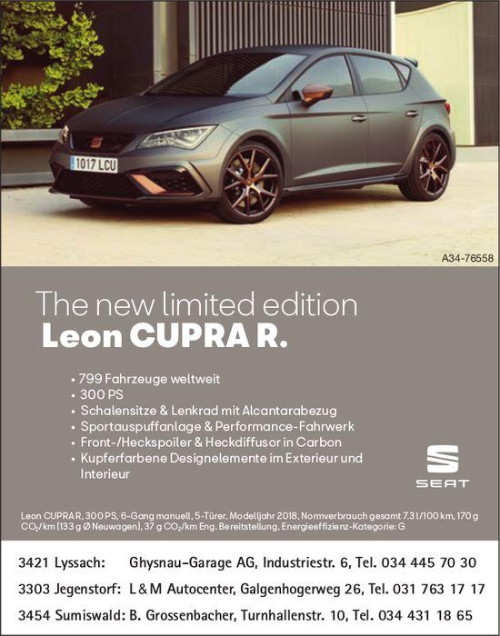The new limited edition SEAT Leon CUPRAR.