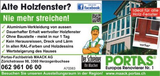 Portas-Fachbetrieb MAACK AG - Alte Holzfenster? Nie mehr streichen!