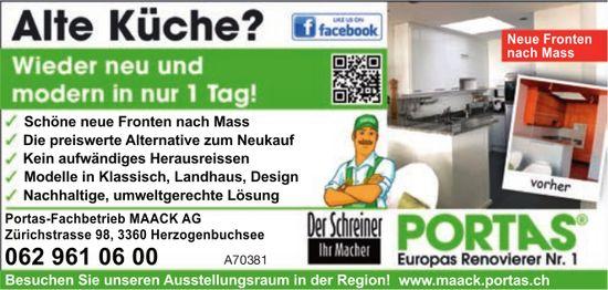 Alte Küche? Wieder neu und modern in nur 1 Tag, Portas-Fachbetrieb MAACK AG