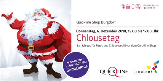 Chlousetag, 6. Dez., Quickline Shop Burgdorf