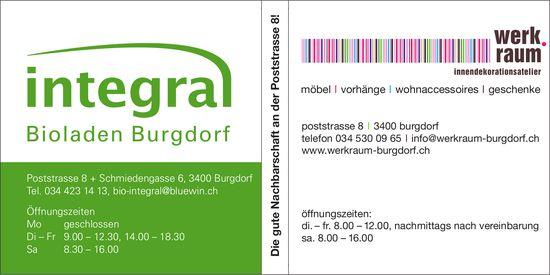 integra Bioladen Burgdorf / werk.raum gmbh burgdorf