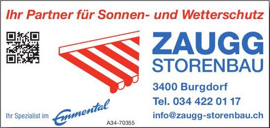 ZAUGG STORENBAU - Ihr Partner für Sonnen- und Wetterschutz