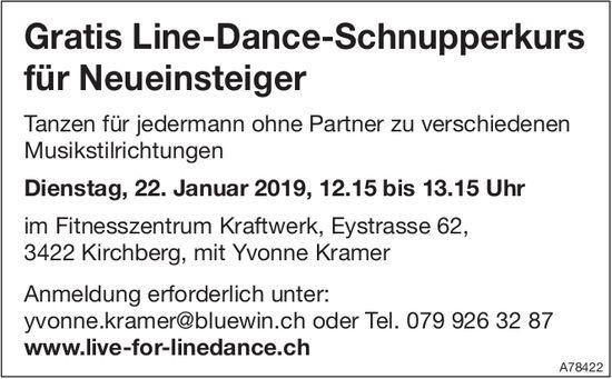 Gratis Line-Dance-Schnupperkurs für Neueinsteiger am 22. Januar