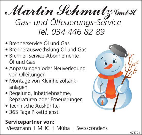 Martin Schmutz GmbH - Gas- und Ölfeuerungs-Service