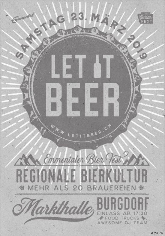 Emmantaler Bier Fest am 23. März - Let it Beer!