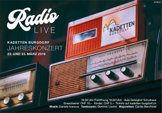 Radio Live - Kadetten Burgdorf Jahreskonzert, 22. & 23. März