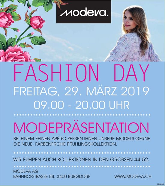 MODEVA AG - FASHION DAY AM 29. MÄRZ