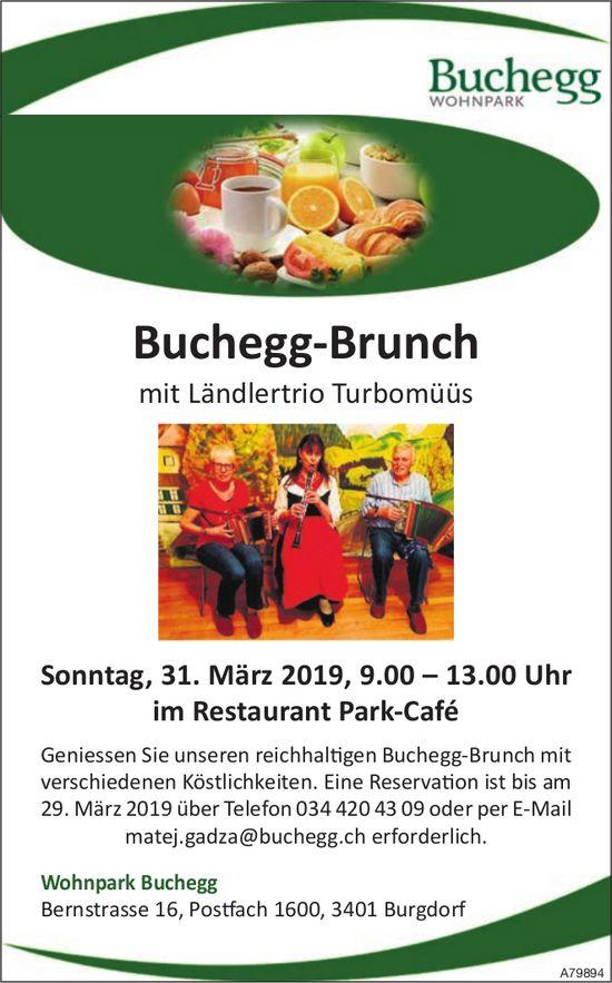 Buchegg‐Brunch mit Ländlertrio Turbomüüs am 31. März
