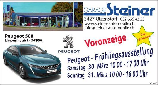 Garage Steiner - Peugeot-Frühlingsausstellung, 30 & 31. März