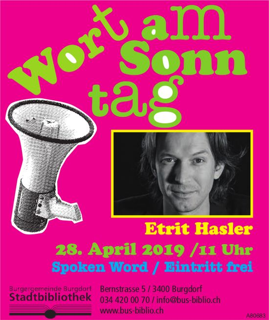 Wort am Sonntag - Etrit Hasler am 28. April