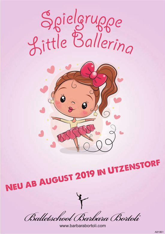 Spielgruppe Little Ballerina, Balletschool Barbara Bortoli, neu ab August in Utzenstorf