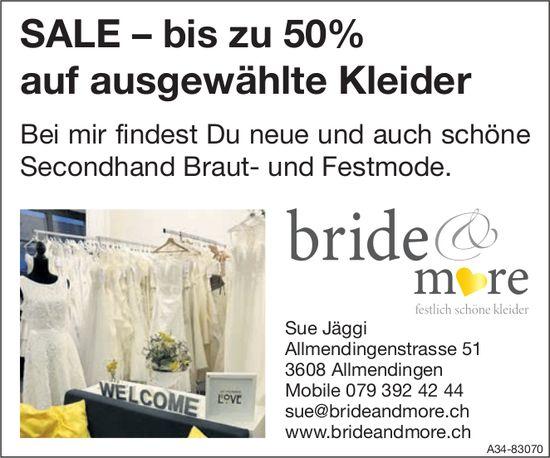 Bride & More - SALE – bis zu 50% auf ausgewählte Kleider