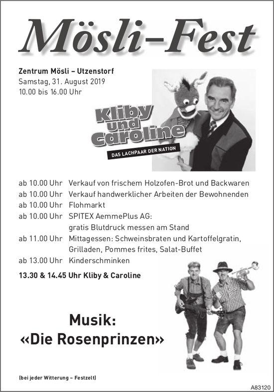 Mösli-Fest in Utzenstorf am 31. August