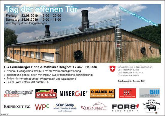 GG Leuenberger Hans & Mathias / - Tag der offenen Tür, 23. + 24. August