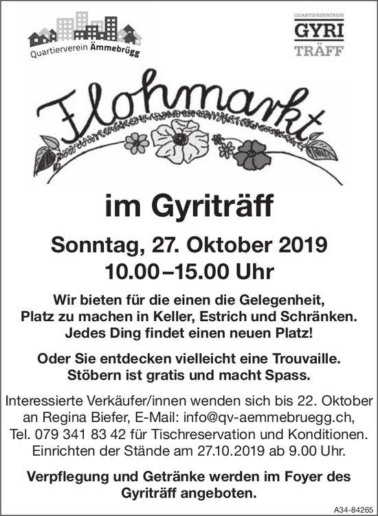 Flohmarkt im Gyriträff am 27. Oktober