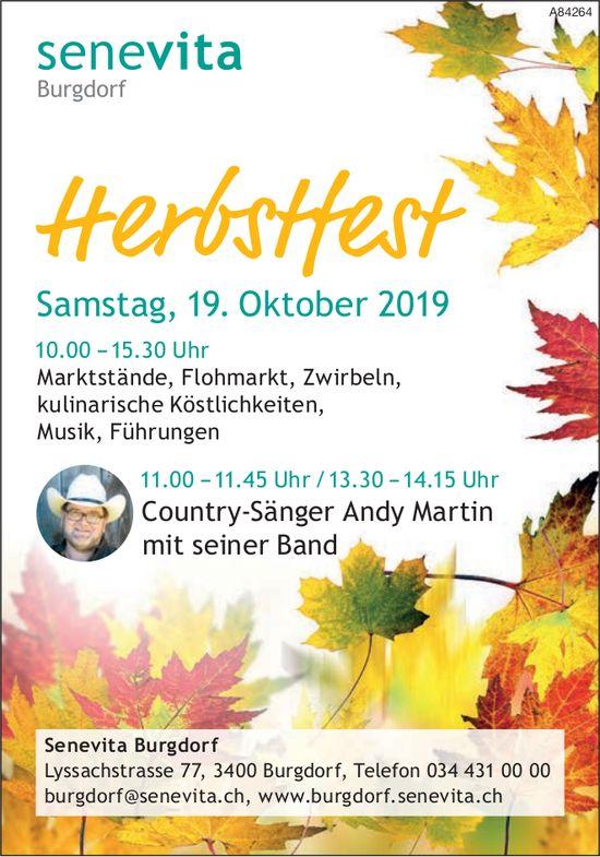 Senevita Burgdorf - Herbstfest am 19. Oktober