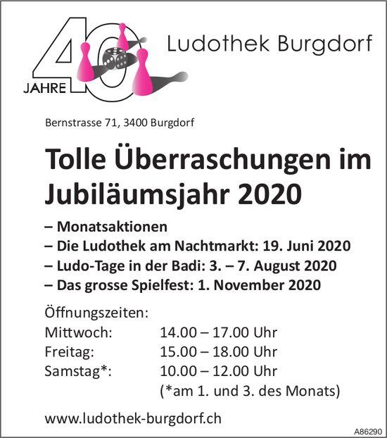 40 Jahre Ludothek Burgdorf - Tolle Überraschungen im Jubiläumsjahr 2020