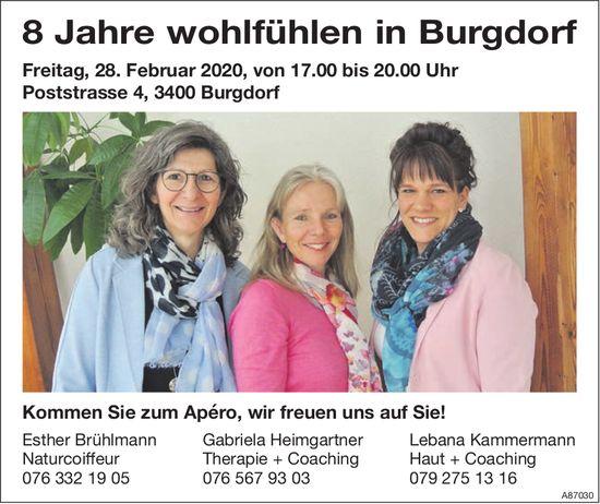 8 Jahre wohlfühlen in Burgdorf, 28. Februar, E Brühlmann,  G. Heimgartner,  L. Kammermann,  Burgdorf