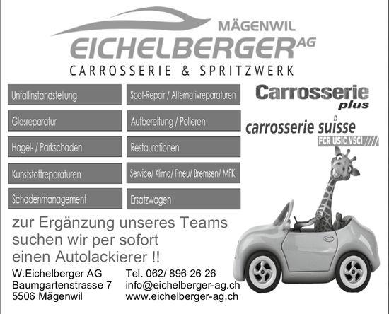 Autolackierer gesucht, Carrosserie & Spritzwerk W. Eichelberger AG