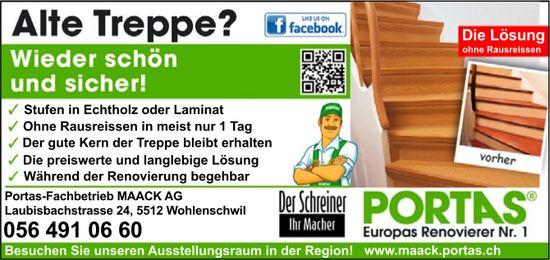 Alte Treppe? Wieder schön und sicher! Portas-Fachbetrieb MAACK AG