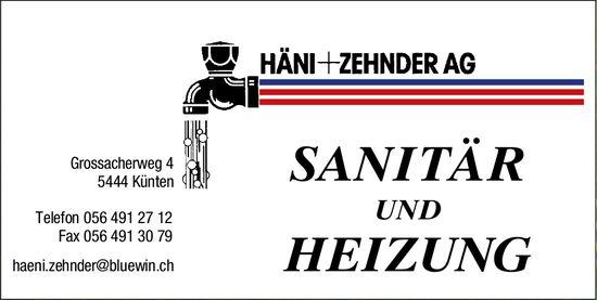 Sanitär und Heizung, Häni + Zehnder AG