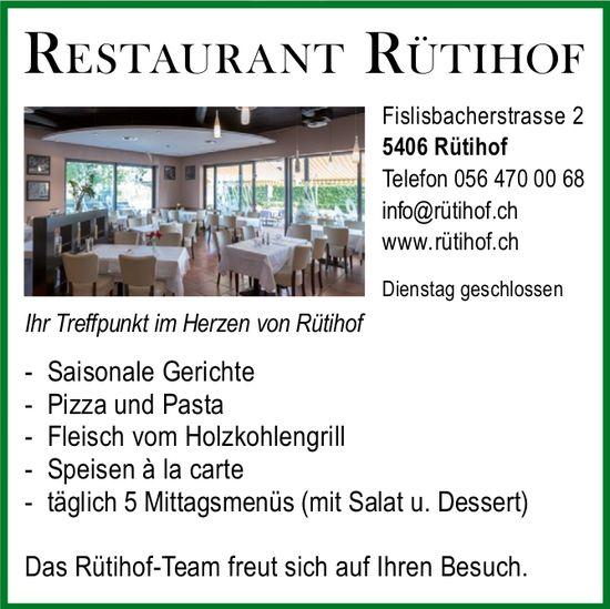 Restaurant Rütihof, Ihr Treffen im Herzen von Rütihof