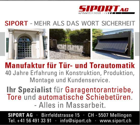 Manufaktur für Tür- und Torautomatik, SIPORT AG
