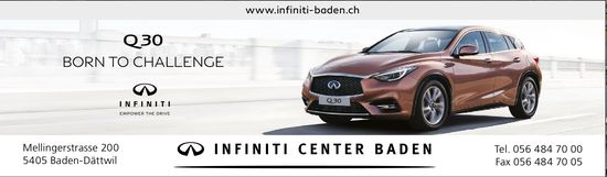Q30 Born to Challenge, Infiniti Center Baden