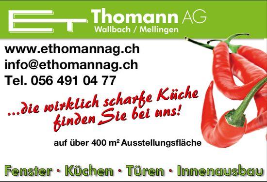 ...die wirklich scharfe Küche finden Sie bei uns! E. Thomann AG